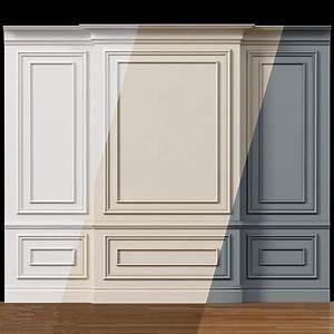 Wall, Molding, 4, Boiserie, Classic, Panels, 3d, Asset