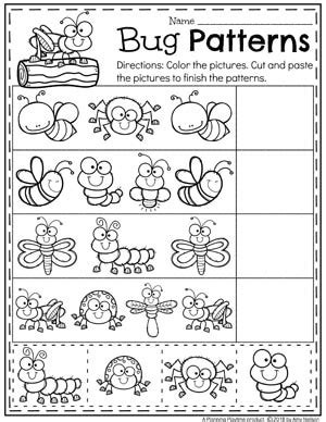 bug worksheets  preschoolers