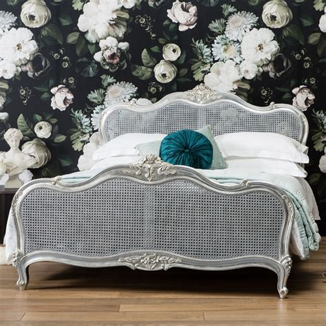 alexandria french style rattan bed silver leaf french bed french bedroom furniture