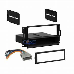 Car Stereo Single Din Dash Kit Wire Harness For 2004