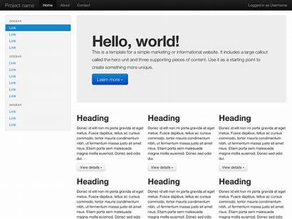 Fluid Bootstrap Layout Examples Example Basic Site