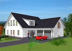 Einfamilienhaus Mit Garage : einfamilienhaus mit doppelgarage bauen ~ Lizthompson.info Haus und Dekorationen