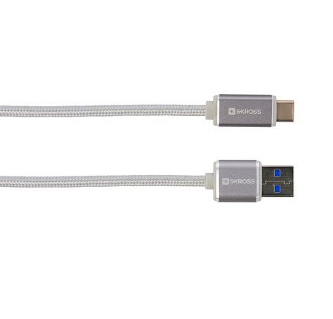 usb type c kabel kabel usb type c 3 0 steel line skross polska