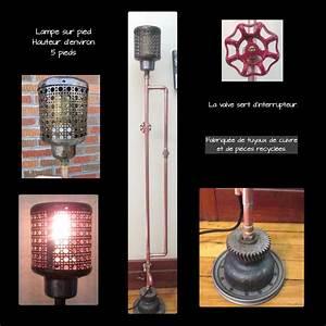 Lampe Sur Pied Industriel : lampe sur pied fabriqu e avec des tuyaux en cuivre et des ~ Melissatoandfro.com Idées de Décoration