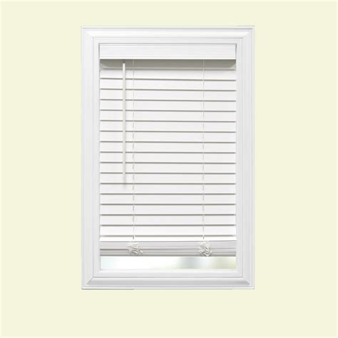 white faux wood blinds home decorators collection cut to width white cordless 2