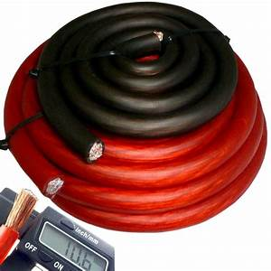 20 U0026 39  Ft 4 Gauge Red Car Audio Power Ground Wire Cable 20