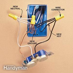 Electric Plug House Wiring : add an electrical outlet the family handyman ~ A.2002-acura-tl-radio.info Haus und Dekorationen