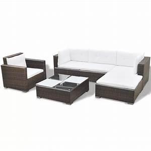 Polyrattan Lounge Set : vidaxl 17 piece garden sofa set brown poly rattan ~ Whattoseeinmadrid.com Haus und Dekorationen