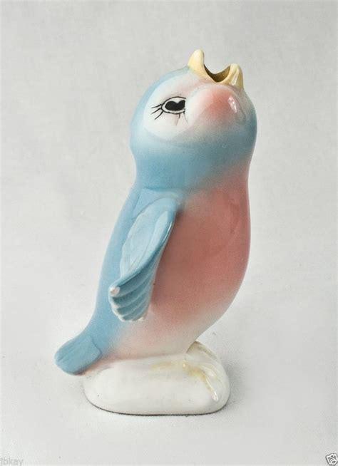 pie bird vintage ceramic blue bird figure pie bird pie vent figurine