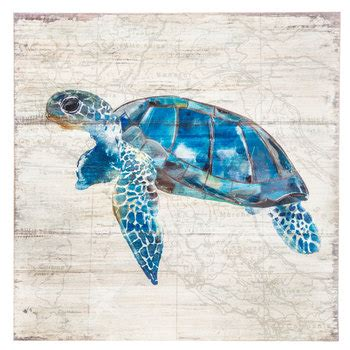 sea turtle map wood wall decor hobby lobby