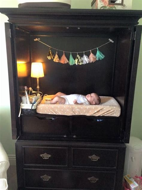 tv armoire refurbished   changing table  storage