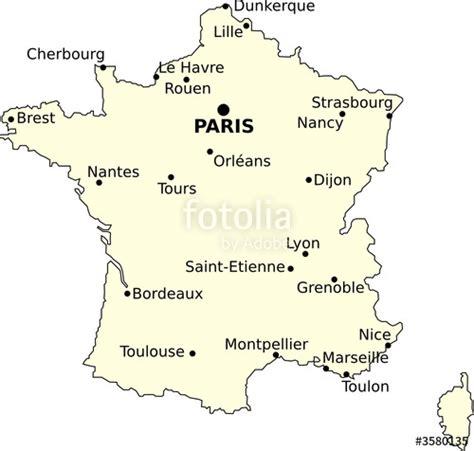 Carte De Avec Villes Principales by Quot Carte De Et Villes Principales Quot Fichier Vectoriel