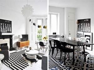 Tapis Jaune Et Noir : tapis graphiques en noir et blanc salon pinterest en noir graphiques et jaune ~ Teatrodelosmanantiales.com Idées de Décoration