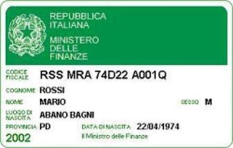 Ufficio Codice Fiscale by Richiedere I Duplicati C F E Della Tessera Sanitaria