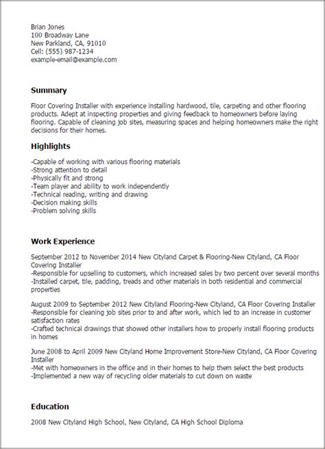 flooring resume resume sample
