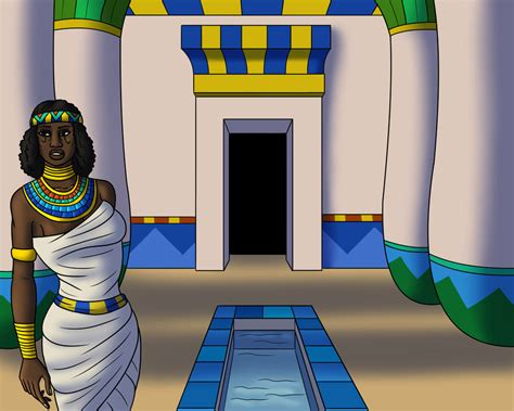Egyptian Princess In A Hallway By Tyrannoninja On Deviantart