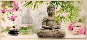 Buddha Bilder Kostenlos : gro es wandbild buddha bambus steingarten 100 x 45 cm feng shui asia bild ebay ~ Watch28wear.com Haus und Dekorationen
