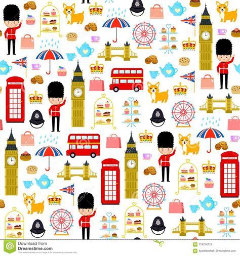 london seamless pattern stock vector illustration