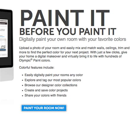 olympic paint color visualizer tool diy home