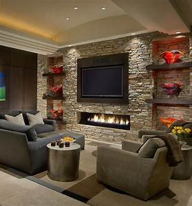 Best stone fireplace wall ideas on