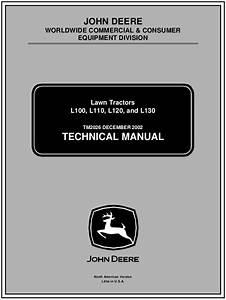 John Deere L110 Lawn Garden Tractor Service Repair Manual