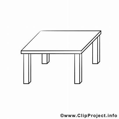 Tisch Coloring Bild Ausmalen Zum Clipart Malvorlage