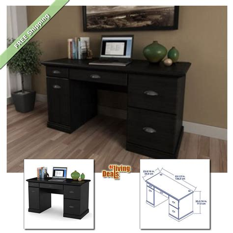black desk with storage computer desks for home office with storage table wood