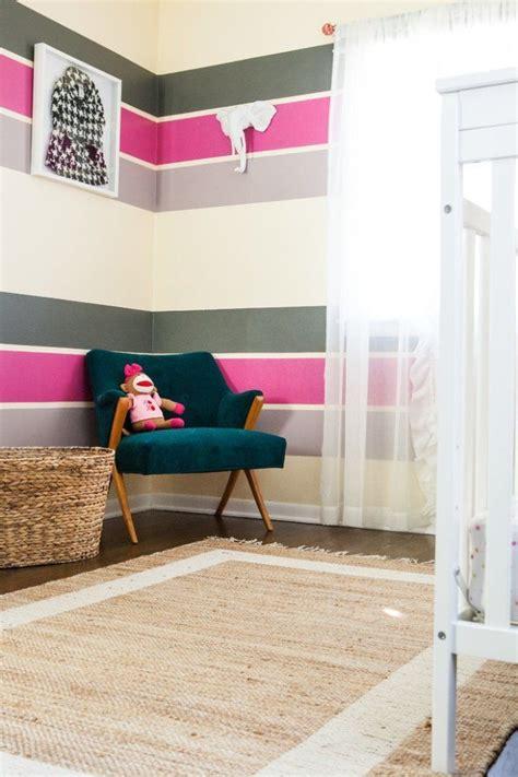 Kinderzimmer Streichen Streifen by Farbgestaltung Im Kinderzimmer Poppige Streifen In Pink