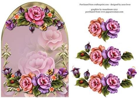 enchanted garden arched topper decoupage cup406829