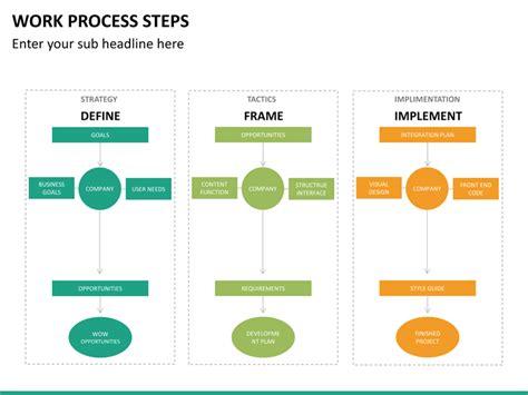work process steps powerpoint template sketchbubble