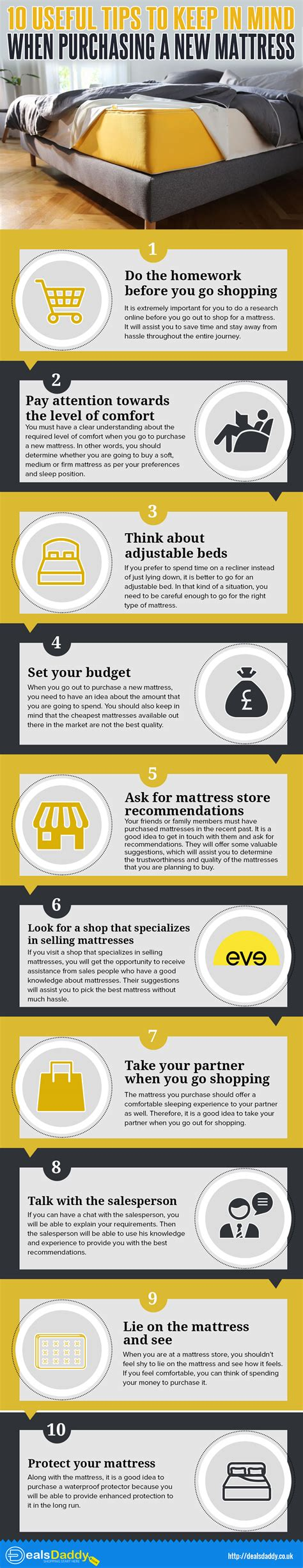 mattress buying guide infographics 10 useful tips to keep in mind when