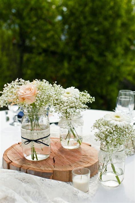 pour les centres de table  bouquets gypsophile