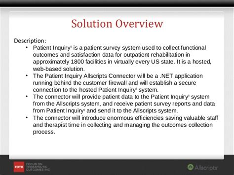 patient inquiry allscripts connector