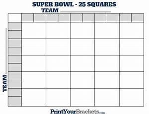 Printable super bowl squares 25 grid office pool for Printable super bowl block pool template