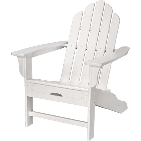 all weather adirondack chair in white with hide away