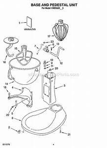 Kitchenaid Km25g0xwh5 Parts List And Diagram