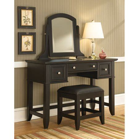 makeup vanity set walmart home styles bedford vanity table mirror and bench black