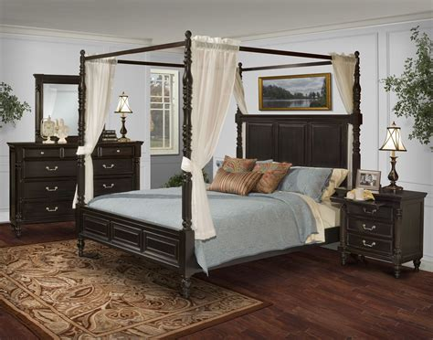 cal king bedroom sets furniture martinique rubbed black canopy bedroom set with drapes