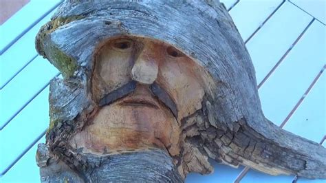 wood knot face carving youtube