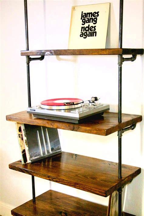 vinyl record storage shelf industrial vinyl record storage shelf unit modern bookcase