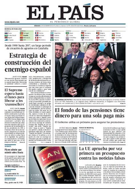 Las portadas de los periódicos de hoy, sábado 2 de ...