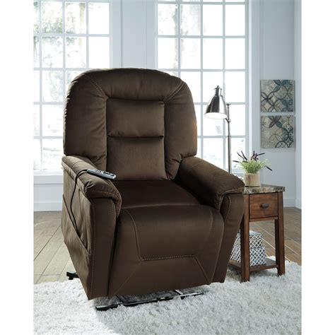 signature design samir power lift recliner with
