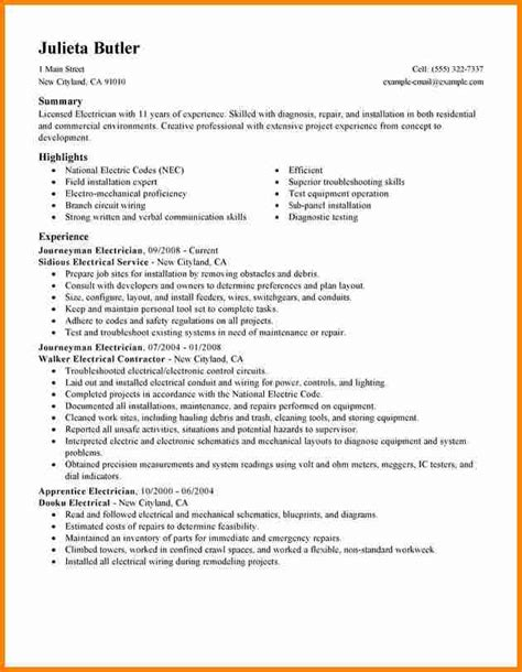 Electrician Apprentice Resume by Electrician Resume Exles Industrial Electrician Resume Sle Resumecompanioncom Resume