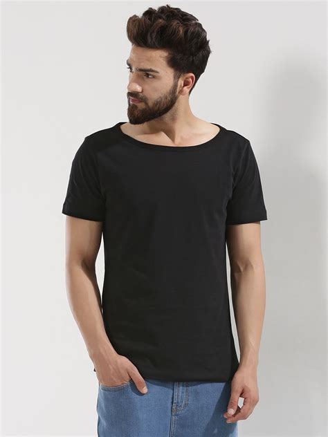 Boat Neck T Shirt For Mens by Buy Koovs Boat Neck T Shirt For S Black T Shirts