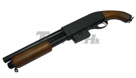 sawed  full metal pump action shotgun