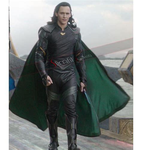 Thor Ragnarok Loki Cosplay Leather Jacket Costume