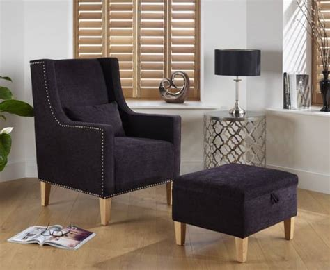 Leven Upholstered Occasional Arm Chair And Stool