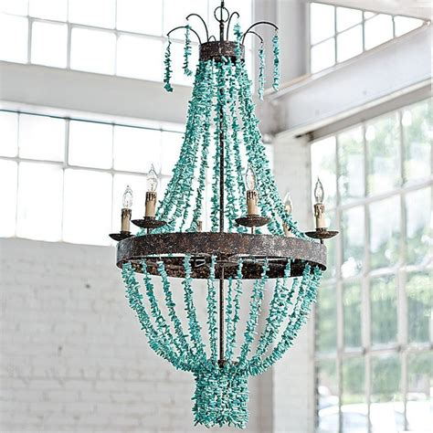 turquoise chandeliers 1000 ideas about turquoise chandelier on