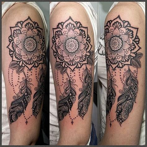 mandala tattoo dreamcatcher tatoo tattoos dream