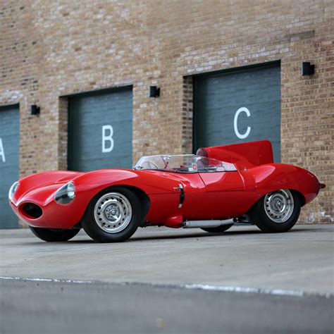 A Rare 1956 Red Jaguar D-type Is Going Up For Sale At